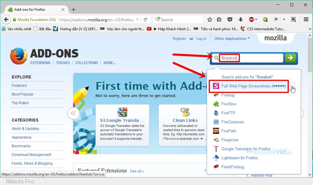 HYYng dYn chYp Ynh toan bY trang web tren Firefox va Chrome